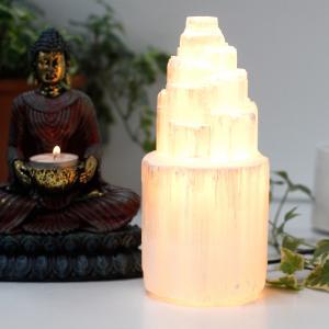 lampes naturelles en sélénite